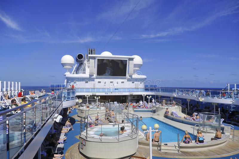 Hoger dek van het schip van de Prinsescruise royalty-vrije stock foto's