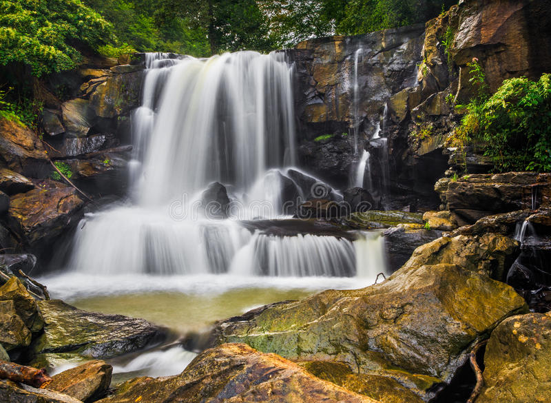 Hoger Laurel Creek Falls royalty-vrije stock foto's