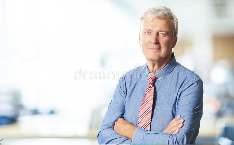 Hoger managerportret royalty-vrije stock afbeelding