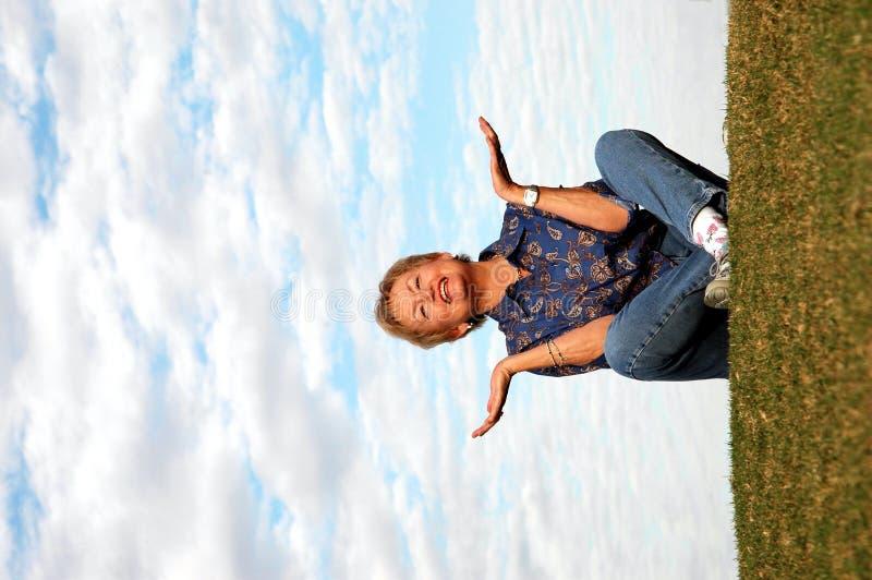 Hoger meditatie/lof stock foto's