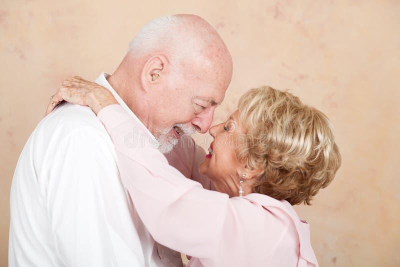 Hoger Paar in Gelukkig Huwelijk royalty-vrije stock afbeeldingen