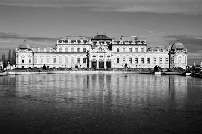 Hoger Paleis in historische complexe Belvedere, Wenen, Oostenrijk stock afbeelding