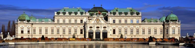 Hoger Paleis in historische complexe Belvedere, Wenen, Oostenrijk royalty-vrije stock foto's