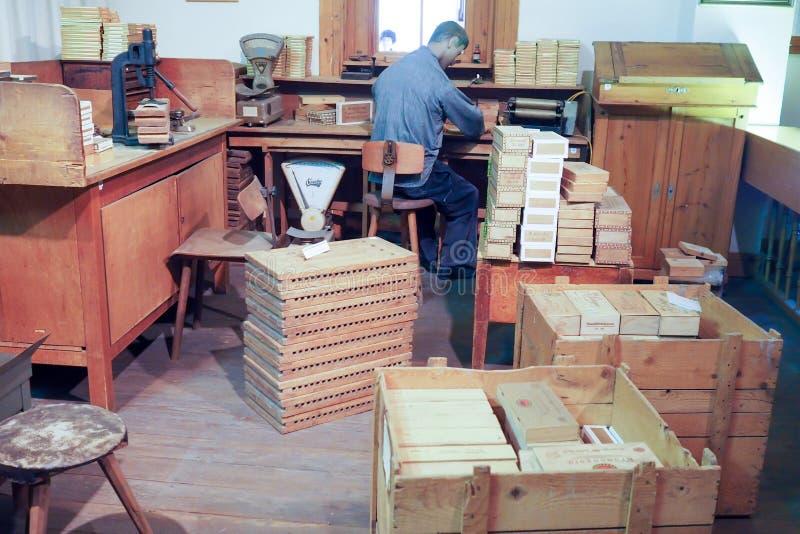 Hoger Rijn-Tabaksmuseum in Mahlberg, Duitsland stock fotografie