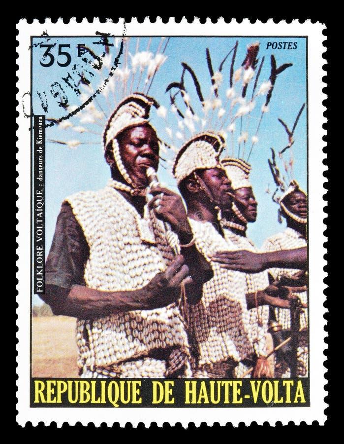 Hoger Volta op postzegels royalty-vrije stock fotografie