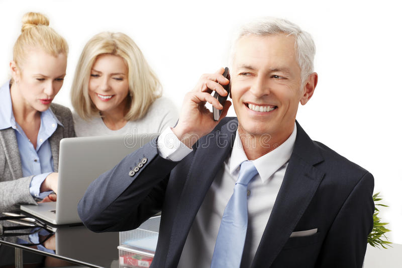 Hoger zakenmanportret stock foto