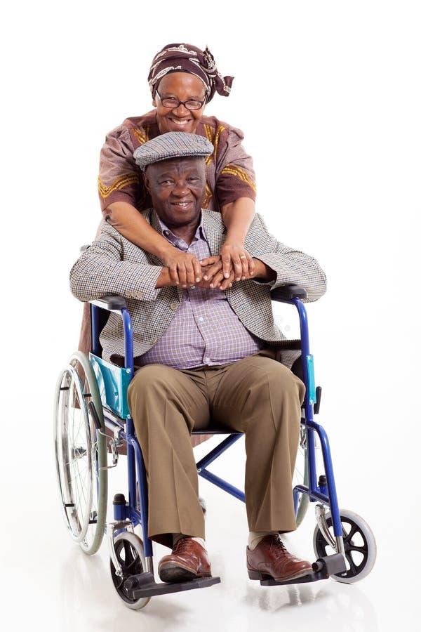 Hogere Afrikaanse vrouwenechtgenoot stock foto