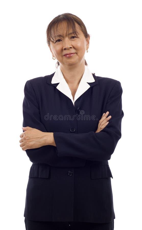 Hogere Aziatische BedrijfsVrouw royalty-vrije stock fotografie