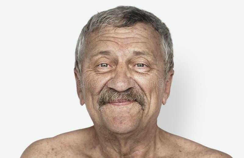 Hogere de studiospruit van het mensen shirtless portret royalty-vrije stock afbeelding