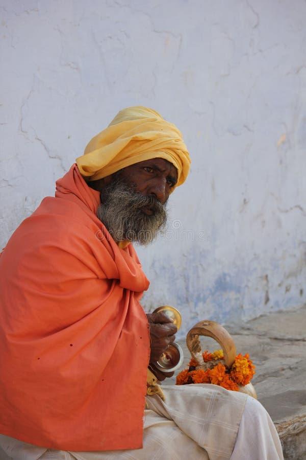 Hogere Indische Mens stock afbeelding