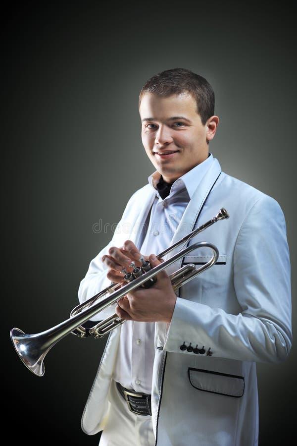 Hogere jazzmusicus. royalty-vrije stock afbeeldingen