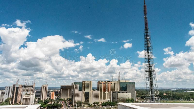 Hogere mening van Brasilia, Brazilië stock afbeeldingen