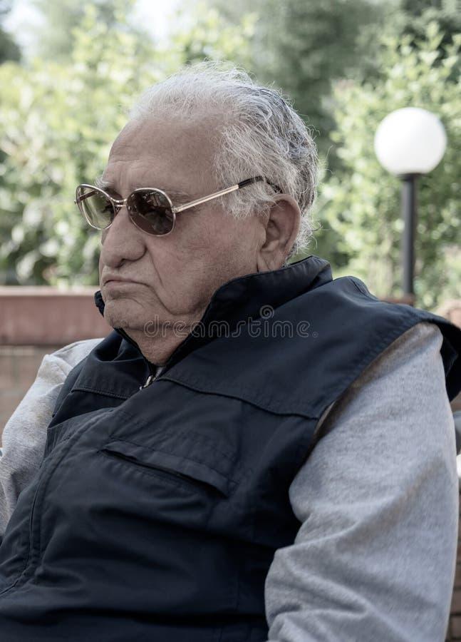 Hogere mens 90 jaar, Portret stock fotografie