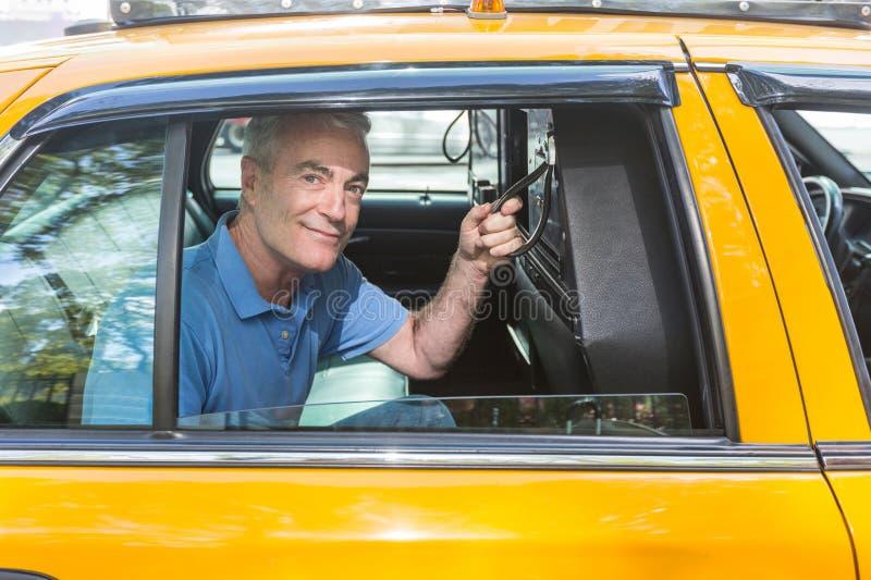 Hogere Mens in New York royalty-vrije stock afbeeldingen