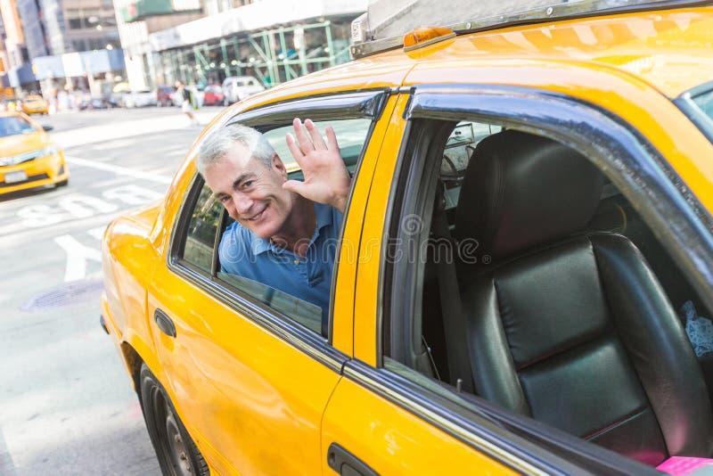 Hogere Mens in New York stock foto