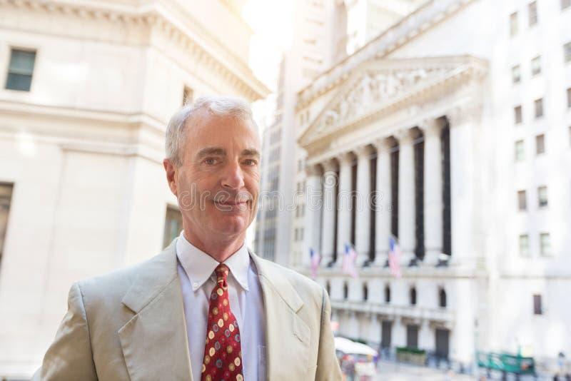 Hogere Mens in New York royalty-vrije stock fotografie