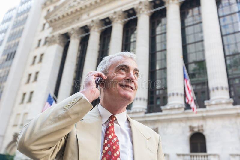 Hogere Mens in New York stock fotografie