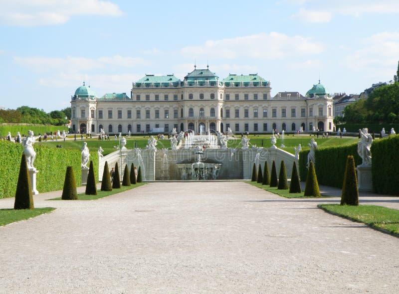 Hogere Schloss-Belvedere, Wenen royalty-vrije stock afbeeldingen