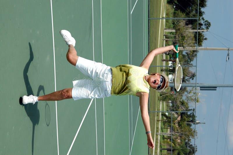Hogere tennisspeler royalty-vrije stock foto's