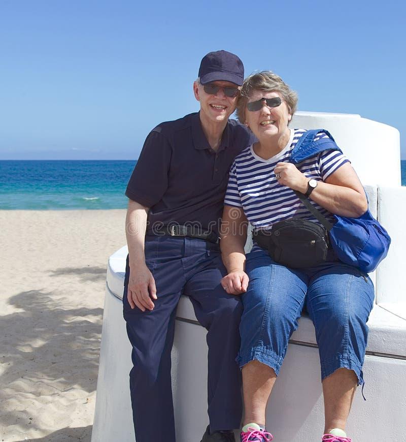 Hogere Toeristen op Vakantie stock foto's
