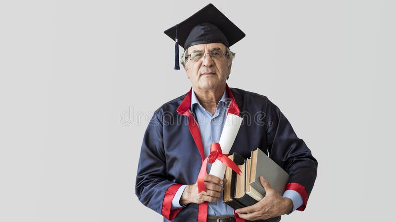 Hogere volwassen mens in GLB stock afbeeldingen
