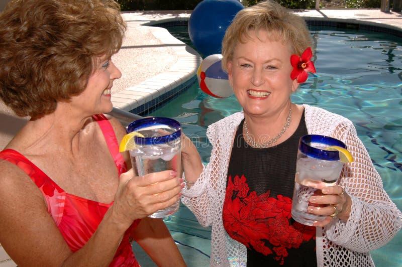 Hogere vrienden tropische vakantie royalty-vrije stock afbeeldingen