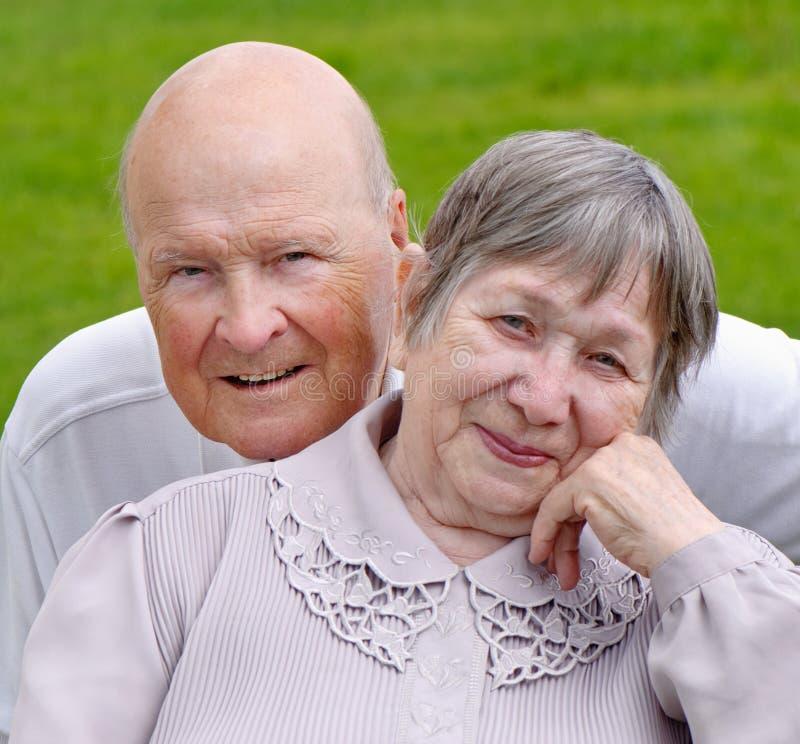 Hogere vrouw en man royalty-vrije stock fotografie