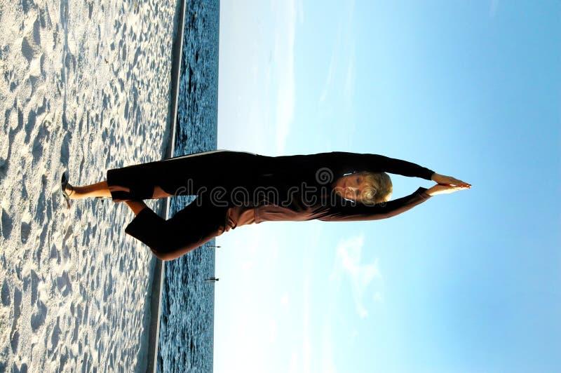 Hogere yoga royalty-vrije stock foto