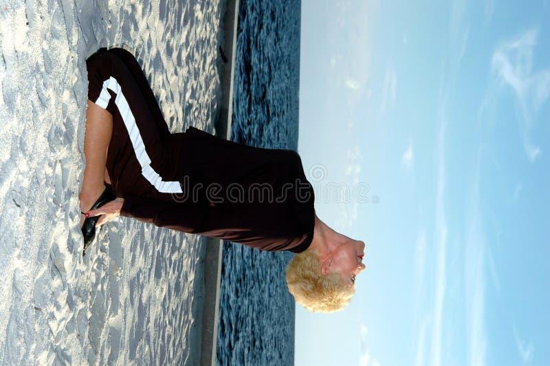 Hogere yoga royalty-vrije stock afbeeldingen