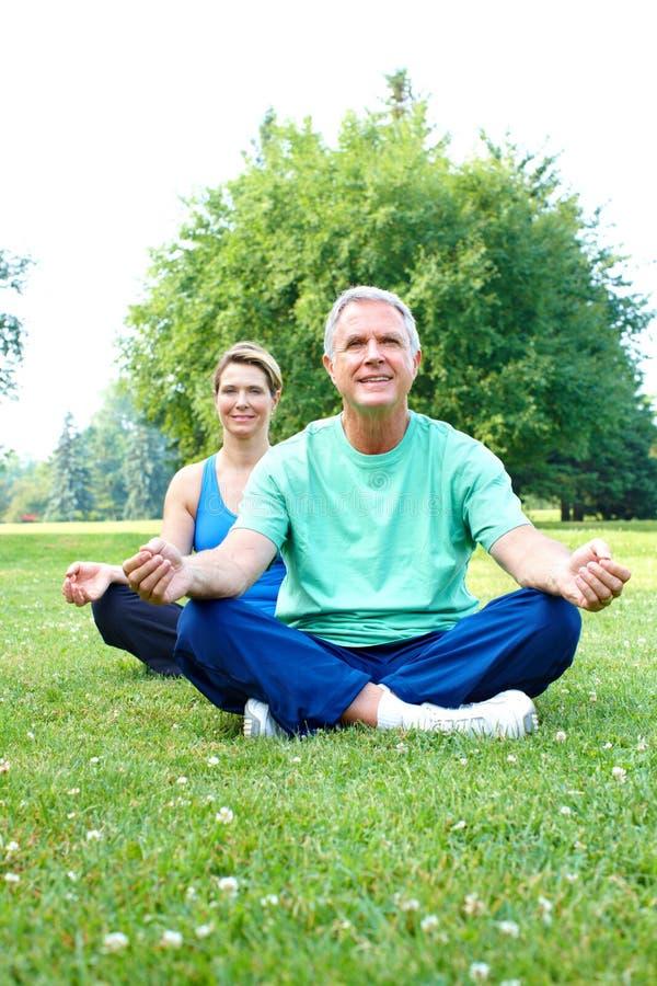 Hogere Yoga Stock Foto's