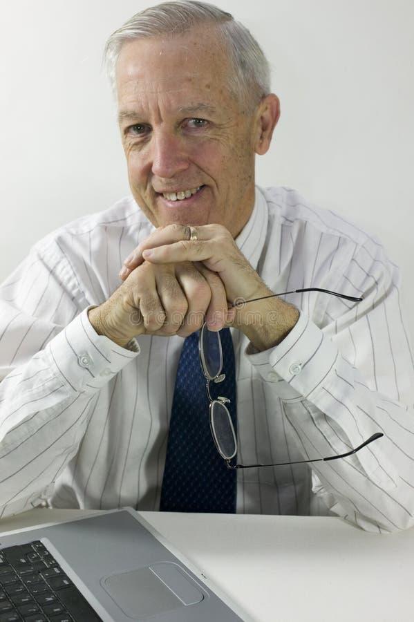 Hogere zakenman royalty-vrije stock afbeelding