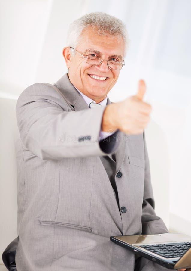 Hogere zakenman stock fotografie