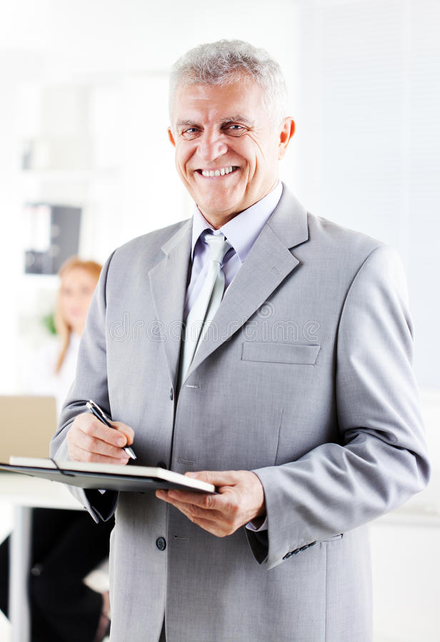 Hogere zakenman royalty-vrije stock foto