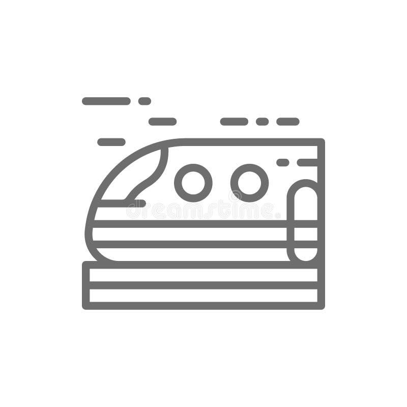 Hogesnelheidstrein, metro, het pictogram van de tramlijn vector illustratie