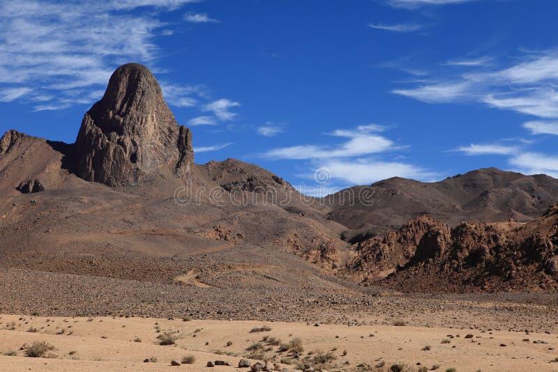 Hoggar Mountains in Algeria. Hoggar Mountains in the Sahara Algeria stock image