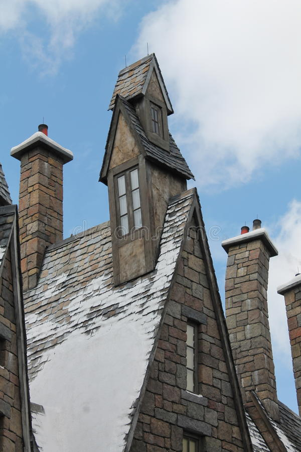 Hogsmaede расквартировывает студию Universal Гарри Поттера стоковые фото