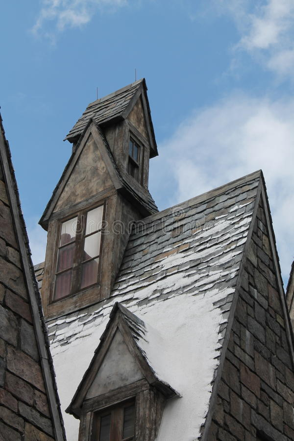 Hogsmaede Houses Harry Potter Universal Studio's royalty free stock photo
