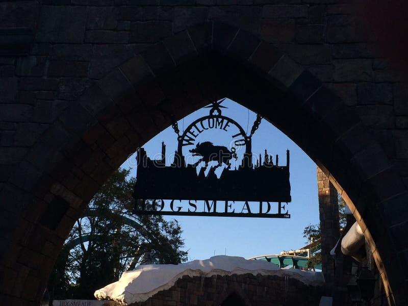 Hogsmeade Harry Potter World royaltyfria bilder
