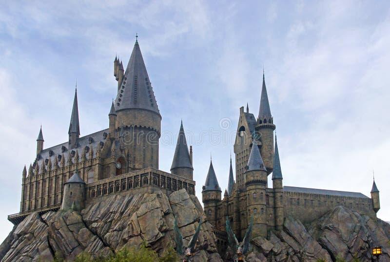 Hogswartkasteel in Universele Studio's Japan, Osaka stock foto's