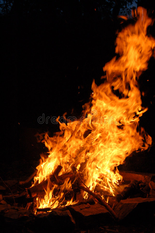 Download Hoguera 2 foto de archivo. Imagen de calor, wildfire, infierno - 1286608