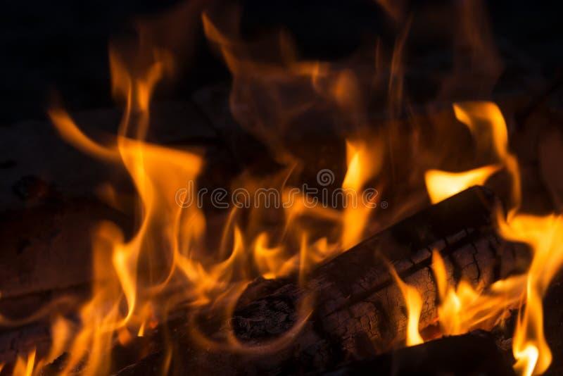 Hoguera ardiente grande fotografía de archivo libre de regalías