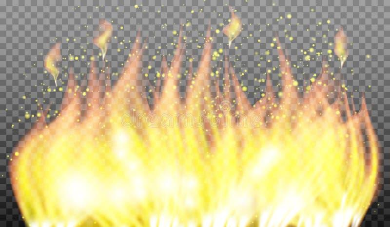 Hoguera 2 Efecto luminoso especial de la llama del fuego del vector libre illustration