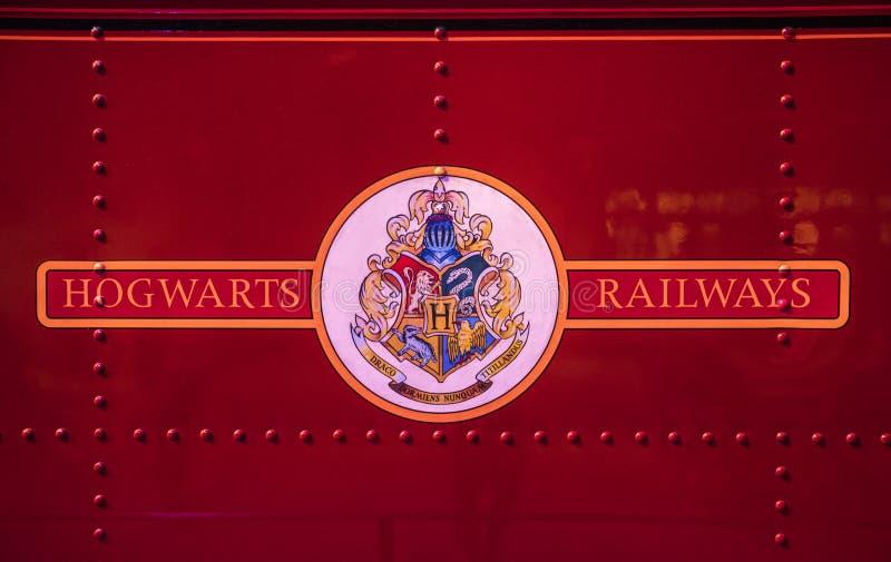 Hogwarts铁路标志 库存图片