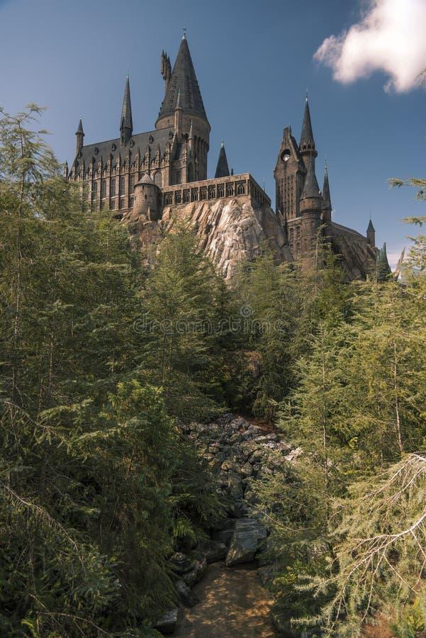 Hogwarts aux îles universelles de l'aventure Orlando photo stock