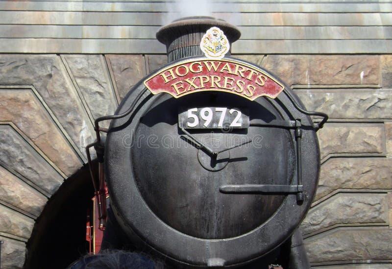 Hogwarts expreso, mundo de Wizarding de Harry Potter imagen de archivo