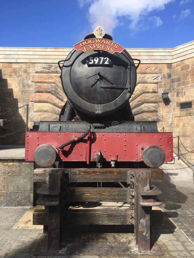 Hogwarts Express. Train, located in Harry Potter World at Universal Orlando stock image