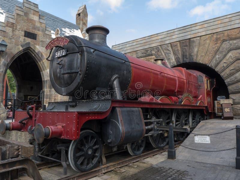Hogwarts expresso em Harry Potter World Orlando Florida imagem de stock