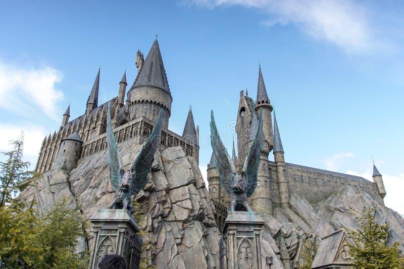 Hogwarts slott royaltyfria foton