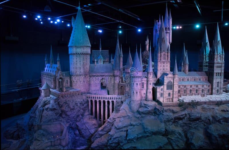 Hogwarts slottmodell arkivfoton