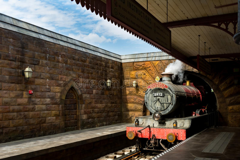 Hogwarts uttryckligt drev på på universella studior Florida arkivfoton